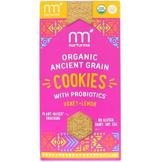 NurturMe, Organic Ancient Grain Cookies, With Probiotics, Honey + Lemon, 5 oz (142 g)