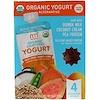 NurturMe, Alternativa de yogur orgánico, batata, mango y guayaba, 4 bolsitas, 3.5 oz (99 g) c/u