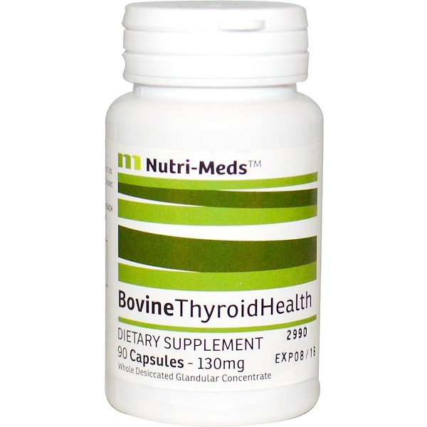 Nutri-Meds, Bovine Thyroid Health, 130 mg, 90 Capsules (Discontinued Item)