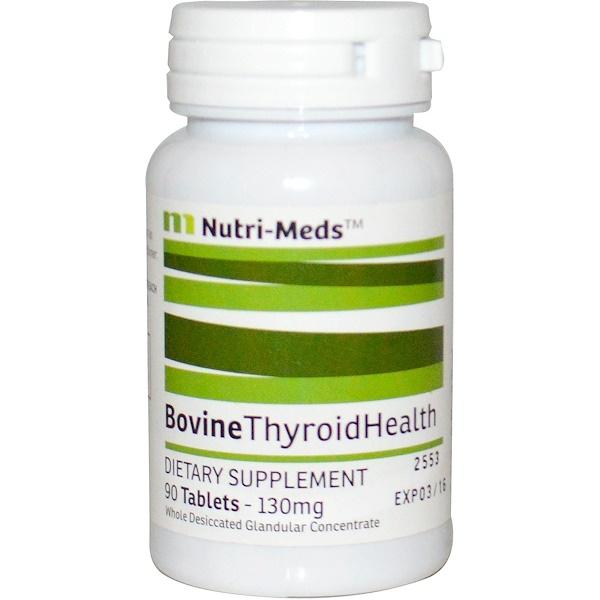 Nutri-Meds, Bovine Thyroid Health, 130 mg, 90 Tablets (Discontinued Item)