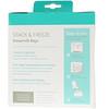 Nanobebe, Bolsas de almacenamiento de leche materna, 50 bolsas preesterilizadas, 5 oz (150 ml) c/u