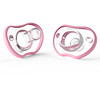 Nanobebe, Flexy Pacifier, 0-3 Months, Pink, 2 Pack