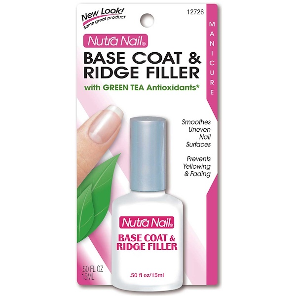 Nutra Nail, Base Coat & Ridge Filler with Green Tea, .50 fl oz (15 ml) (Discontinued Item)