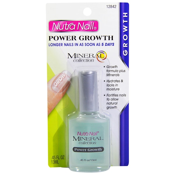 Nutra Nail, Mineral Collection, Power Growth, Longer Nails, .45 fl oz (13 ml) (Discontinued Item)