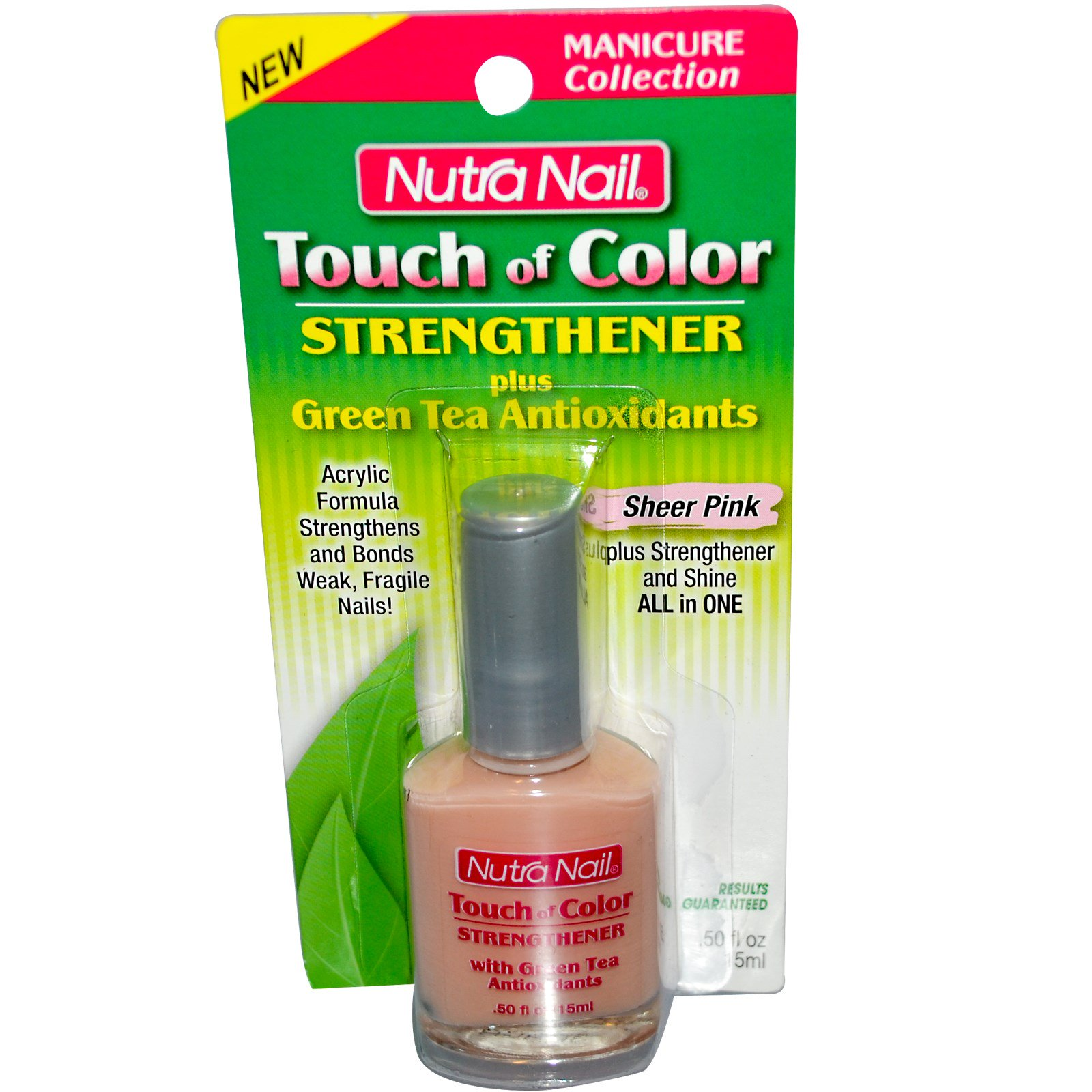 Nutra Nail, Touch of Color, Strengthener, Sheer Pink, .50 fl oz (15 ...