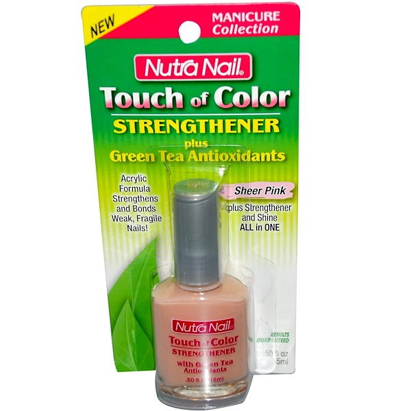 Nutra Nail, Touch of Color, Strengthener, Sheer Pink, .50 fl oz (15 ml) (Discontinued Item)