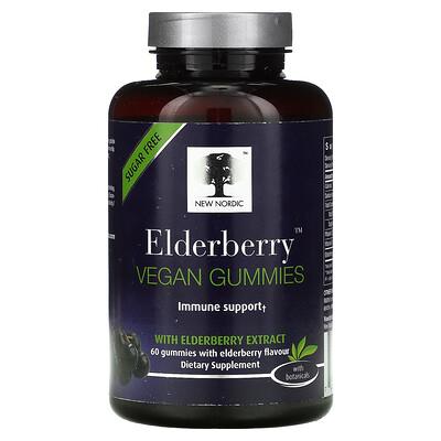 New Nordic Elderberry Vegan Gummies with Elderberry Extract, 60 Gummies