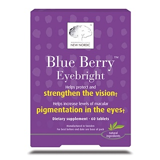 New Nordic US Inc, Blue Berry Eyebright, 60 Tablets