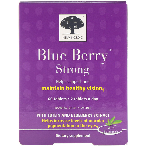 New Nordic, Blue Berry Strong, 60 Tablets
