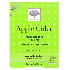 New Nordic US Inc, Apple Cider, 1000 mg, 30 Tablets
