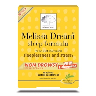 New Nordic US Inc, Melissa Dream, Sleep Formula, 40 Tablets