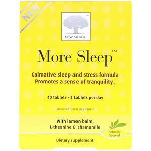 Нью Нордик УС Инк, More Sleep, Calmative Sleep and Stress Formula, 40 Tablets отзывы