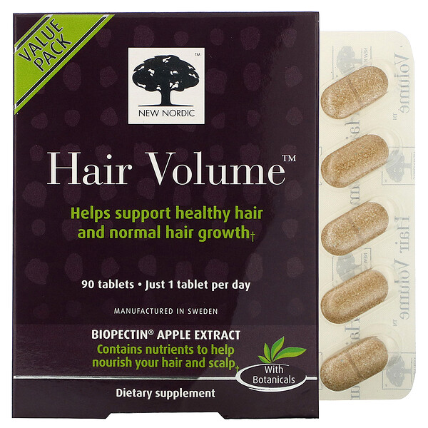 Hair Volume with  Biopectin Apple Extract, 90 Tablets