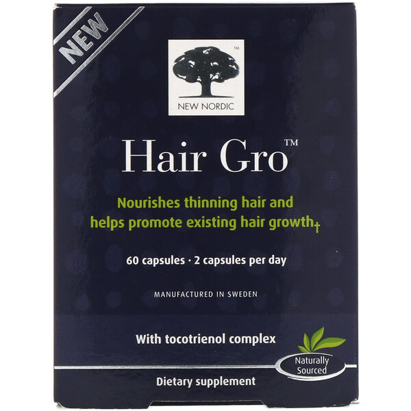 New Nordic, Hair Gro, 60 Capsules