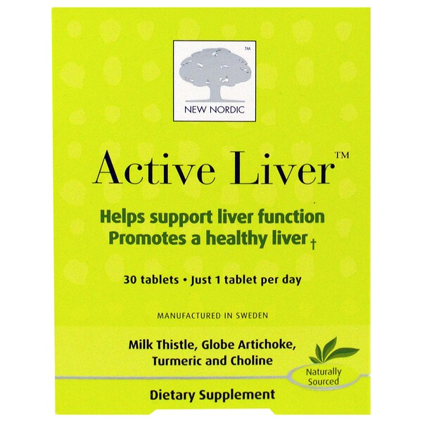 New Nordic US Inc, Active Liver, 30 Tablets