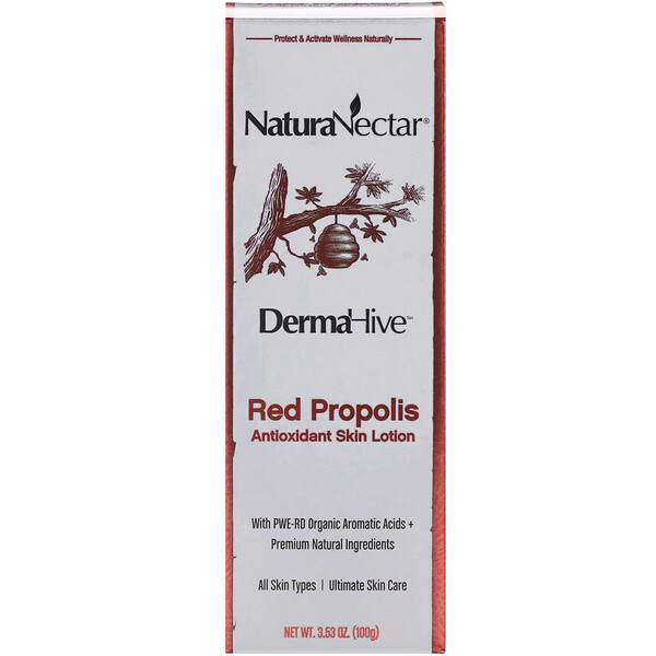 DermaHive, Red Propolis Antioxidant Skin Lotion, 3.53 oz (100 g)