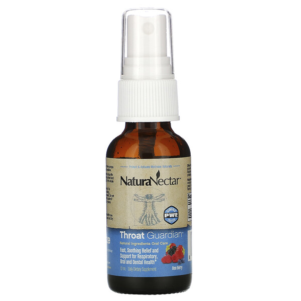 NaturaNectar, Throat Guardian Spray, Bee Berry, 10 ml