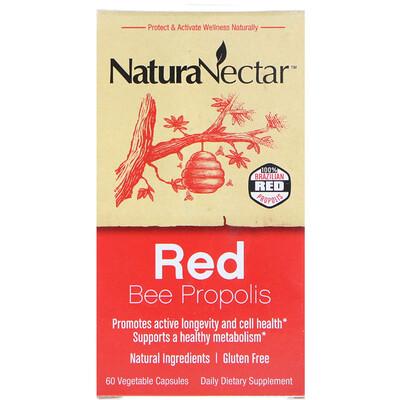 Купить Красный пчелиный прополис, 60 вегетарианских капсул