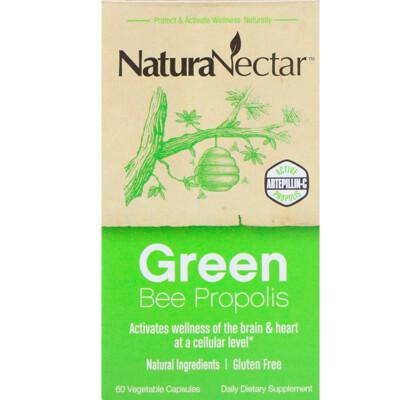 Купить NaturaNectar Green Bee Propolis, 60 вегетарианских капсул