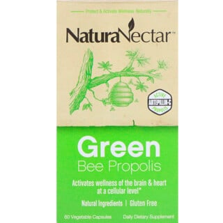 NaturaNectar, Green Bee Propolis, 60 Vegetable Capsules