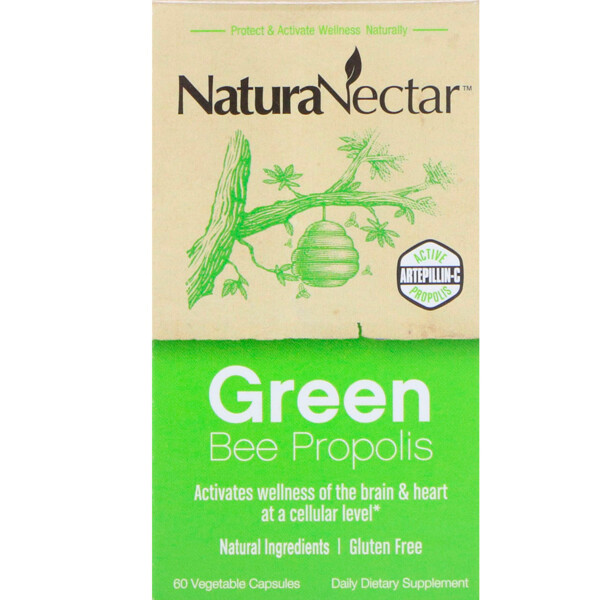 Green Bee Propolis, 60 Vegetable Capsules