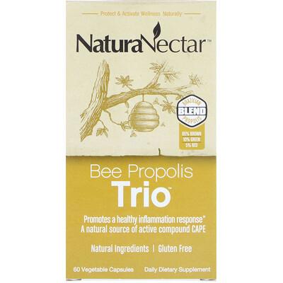 Купить NaturaNectar Bee Propolis Trio, 60 вегетарианских капсул