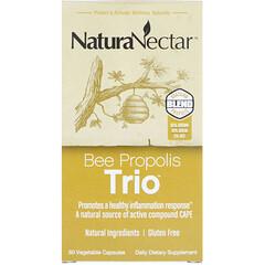 NaturaNectar, Bee Propolis Trio,60粒素食膠囊