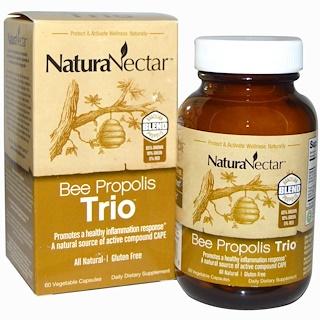 NaturaNectar, Bee Propolis Trio, 60 Veggie Caps