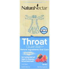NaturaNectar, 咽喉衛士噴霧,蜂蜜漿果,1液體盎司(30毫升)