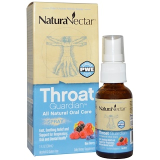 NaturaNectar, Throat Guardian Spray, Bee Berry, 1 fl oz (30 ml)