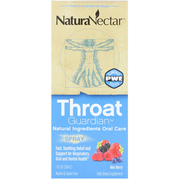 Throat Guardian Spray, Bee Berry, 1 fl oz (30 ml)