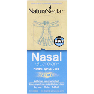 NaturaNectar, Nasal Guardian Spray、1.0液量オンス(30 ml)