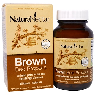 NaturaNectar, Brown Bee Propolis, 60 Veggie Caps