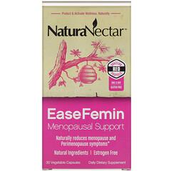 NaturaNectar, EaseFemin,更年期支持,30 粒素食膠囊