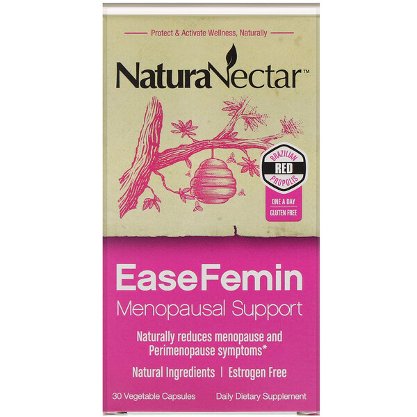 NaturaNectar, EaseFemin, Menopausal Support, 30 Vegetable Capsules