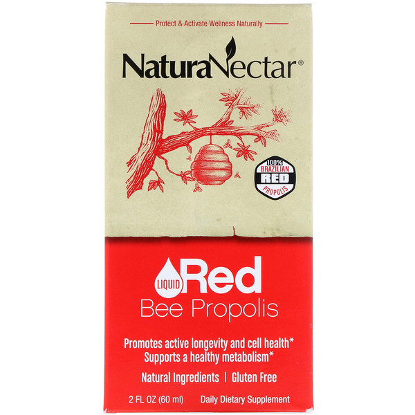 NaturaNectar, Liquid Red Bee Propolis, 2 fl oz (60 ml)