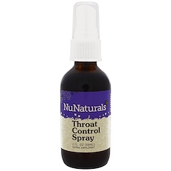 NuNaturals, Throat Control Spray, 2 fl oz (59 ml)