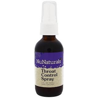 NuNaturals, Throat Control Spray, 2 fl oz (59 ml)