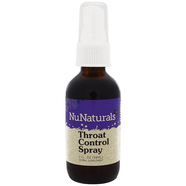NuNaturals, Throat Control Spray, 2 fl oz (59 ml) (Discontinued Item)