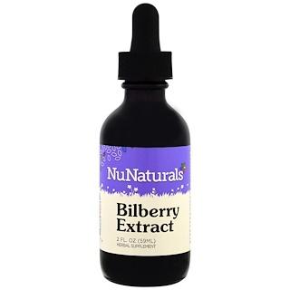 NuNaturals, Экстракт черники, 2 жидких унции (59 мл)