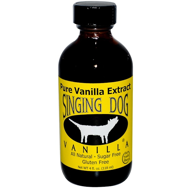 NuNaturals, Singing Dog, Vanilla, 4 fl oz (118 ml) (Discontinued Item)