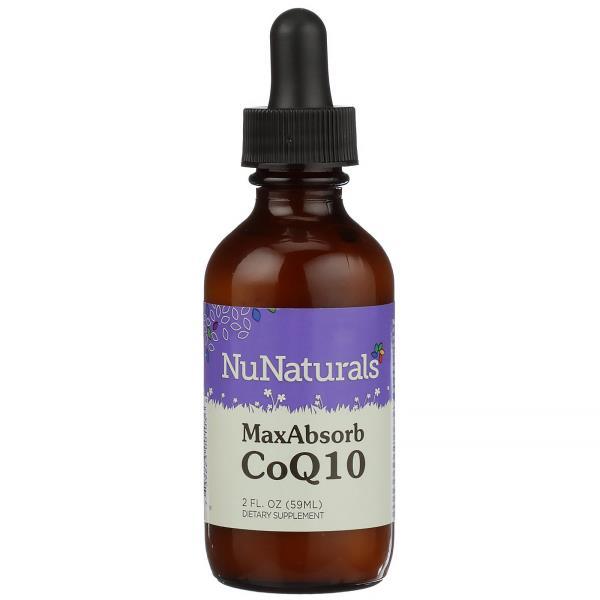 NuNaturals, Max Absorb CoQ10, 2 fl oz (59 ml)