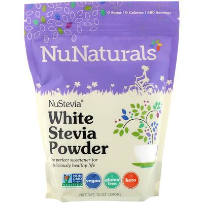 Купить NuNaturals NuStevia, стевия в виде белого порошка, 340г