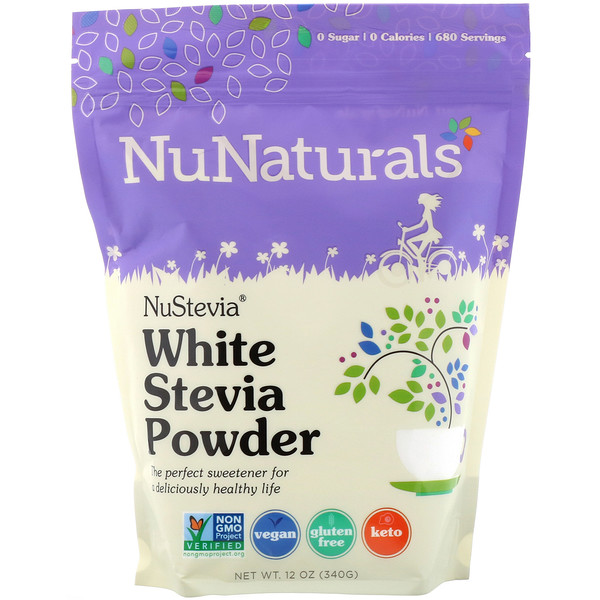 NuStevia, White Stevia Powder, 12 oz (340 g)