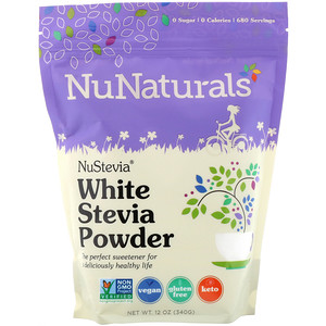 NuNaturals, NuStevia, White Stevia Powder, 12 oz (340 g)