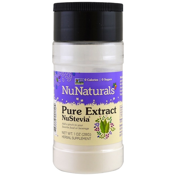 NuNaturals, NuStevia, Pure Extract, 1 oz (28 g)