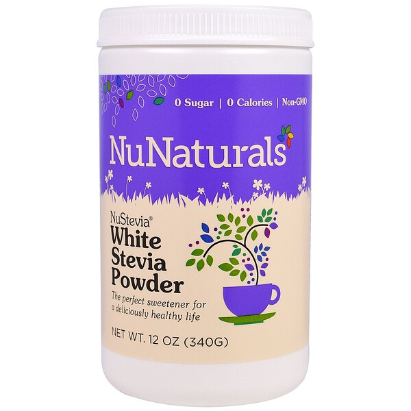 NuStevia White Stevia Powder, 12 oz (340 g)
