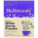 Отзывы о NuNaturals, NuStevia, порошок из стевии белого цвета, 100пакетиков, 100г