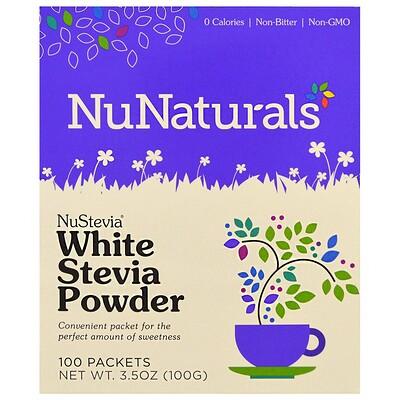 NuStevia, белый порошок стевии, 100 пакетиков, 100 г (3,5 унции) nustevia белый порошок стевии 100 пакетиков 100 г 3 5 унции