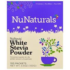 NuNaturals, 白甜菊粉,100包,3.5盎司(100克)